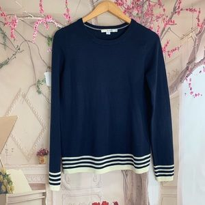 Boden Soft Cozy Navy Striped Sweater